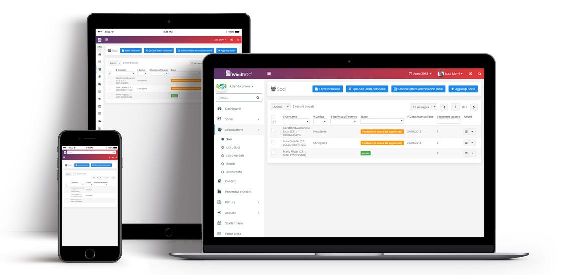 Software gestione soci associazione